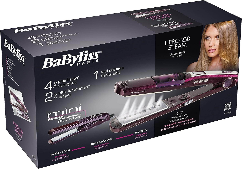 Babyliss st396e Lisseur Ipro 230 Steam Plus Mini: