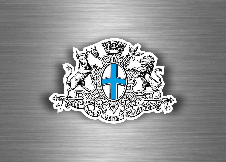 Akachafactory Aufkleber Sticker Auto Motorrad Wappen Stadt Marseille Armoirie Flagge 13 R2 Auto