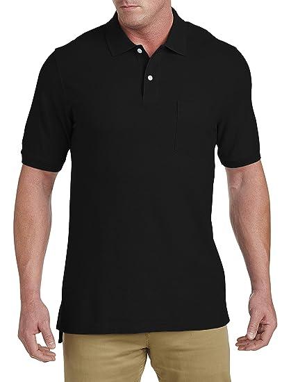 8d6d89ae Amazon.com: Harbor Bay by DXL Big and Tall Pocket Piqué Polo Shirt ...