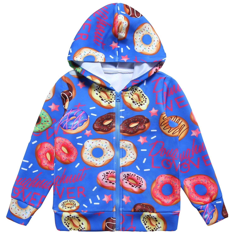 Jxstar Kids Girl Coat Buga Hoodies Set Shirts Sweater Rain Jacket Doughnut Coat