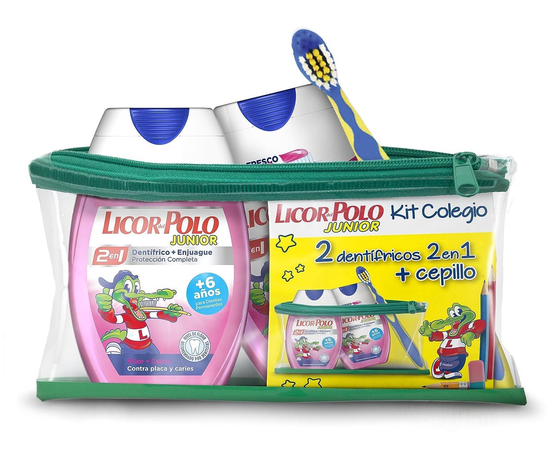 Licor del Polo Dentífricos 2en1 Junior Fresa, Cepillo y Neceser de ...