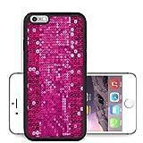 Liili Premium Apple iPhone 6 Plus iPhone 6S Plus Aluminum Snap Case pink sequin background IMAGE ID 18949602200
