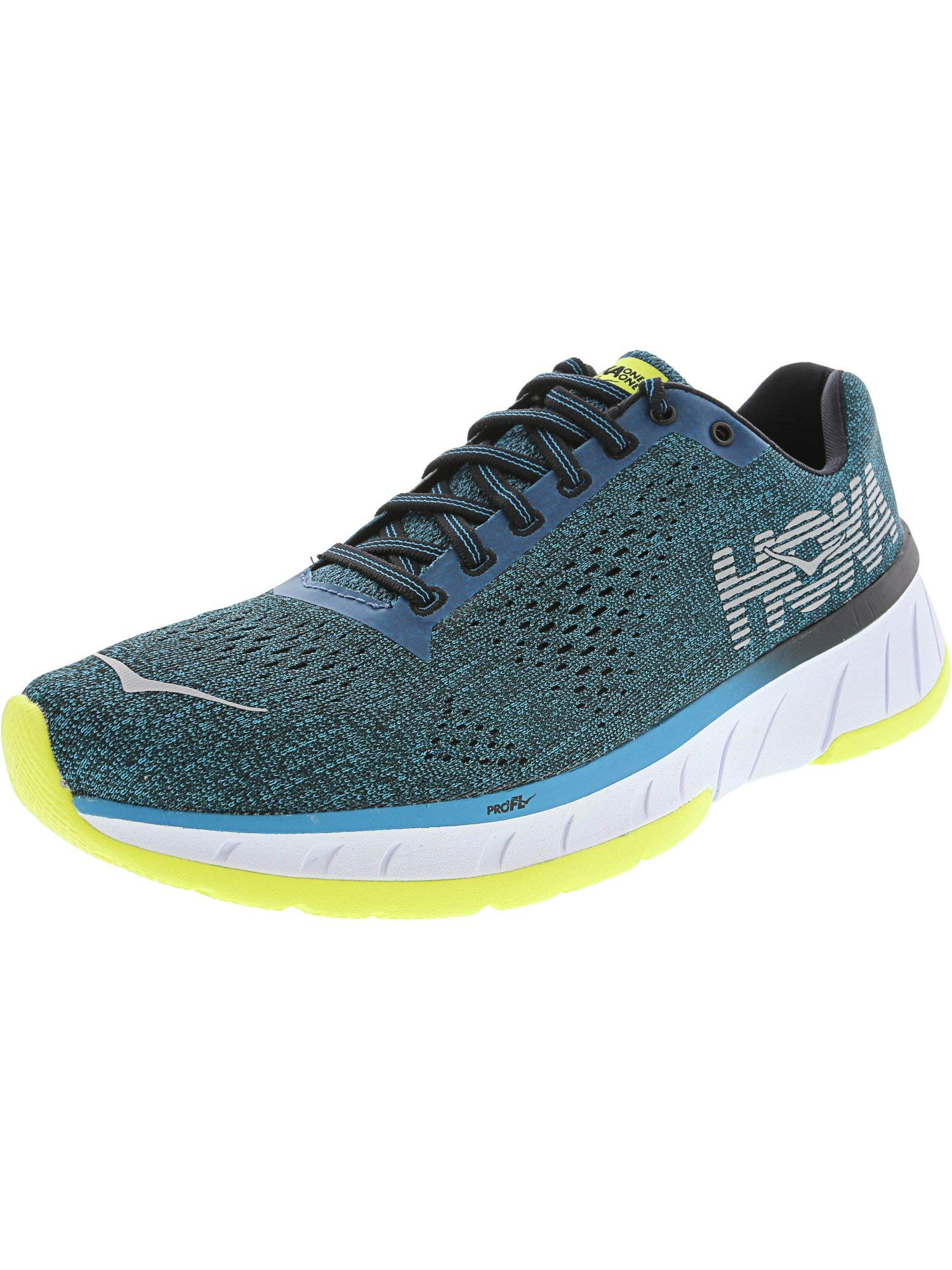 HOKA ONE ONE Mens Cavu Fabric Low Top Lace Up Running Sneaker, Blue, Size 7.0