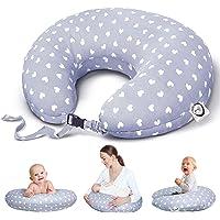 Bamibi® Cojín Lactancia Bebé Multifuncional con Broche Ajustable, Funda 100% Algodón…