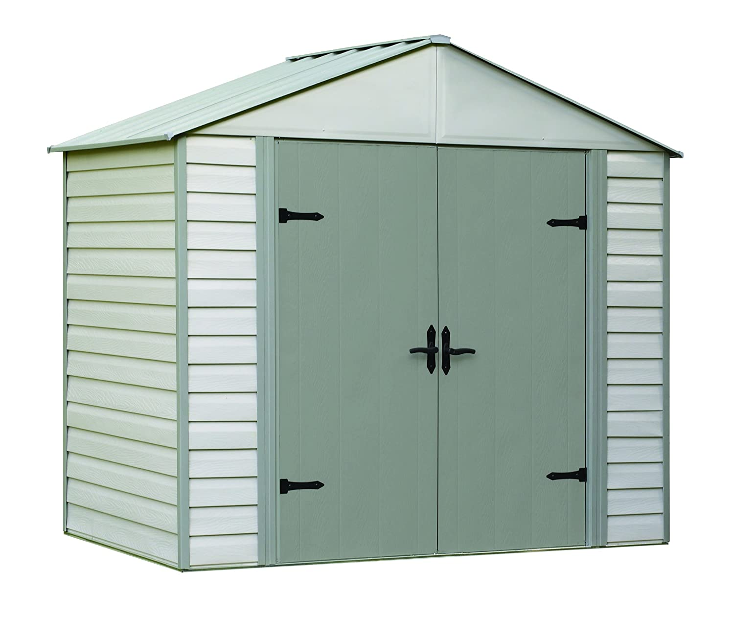 amazoncom arrow shed viking vinyl coated steel shed 8 x 5 garden outdoor