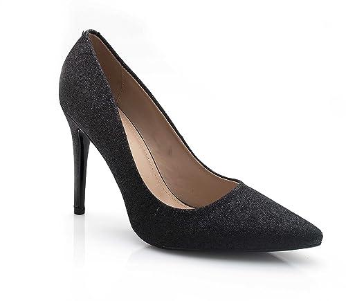 70ab9e6094acb1 Fashion Shoes - Escarpin Femme Paillette Strass - Chaussures Dégradées Talon  Fin - Haut Talon Aiguille