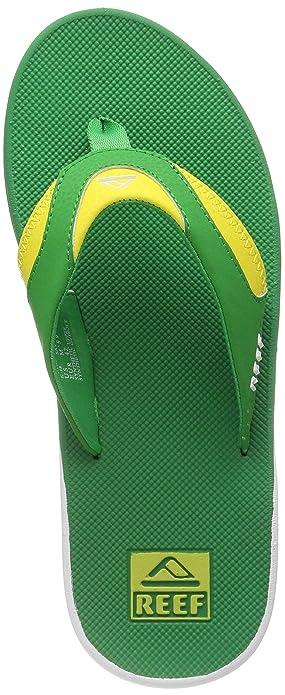 10b3a6bddb5b2 Amazon.com | Mens Reef Fanning Green Yellow Flip Flops Sandals SIZE ...