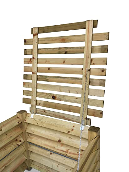 Jardín depot24 Estable Tapa de Madera de compostador 100 x ...