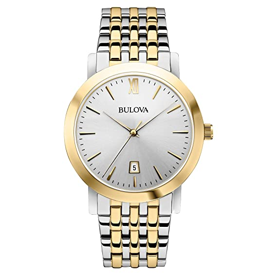 a32e0ad30 Bulova Unisex 98B221 Analog Display Japanese Quartz Two Tone Watch: Bulova:  Amazon.ca: Watches