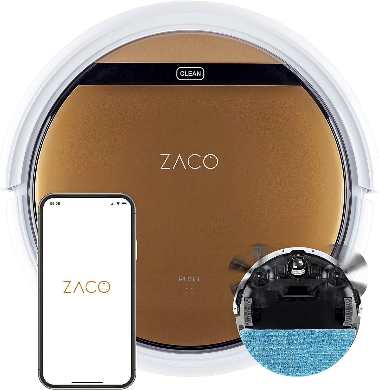 ZACO V5sPro 2in1 Saugroboter mit Wischfunktion Ladestation Roboterstaubsauger