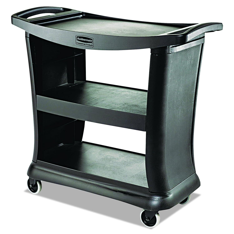 Rubbermaid Commercial Executive Series Utility Cart, Black, FG9T6800BLA