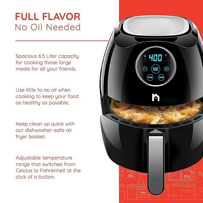 Amazon.com: New House Kitchen Digital - Freidora de aire de ...