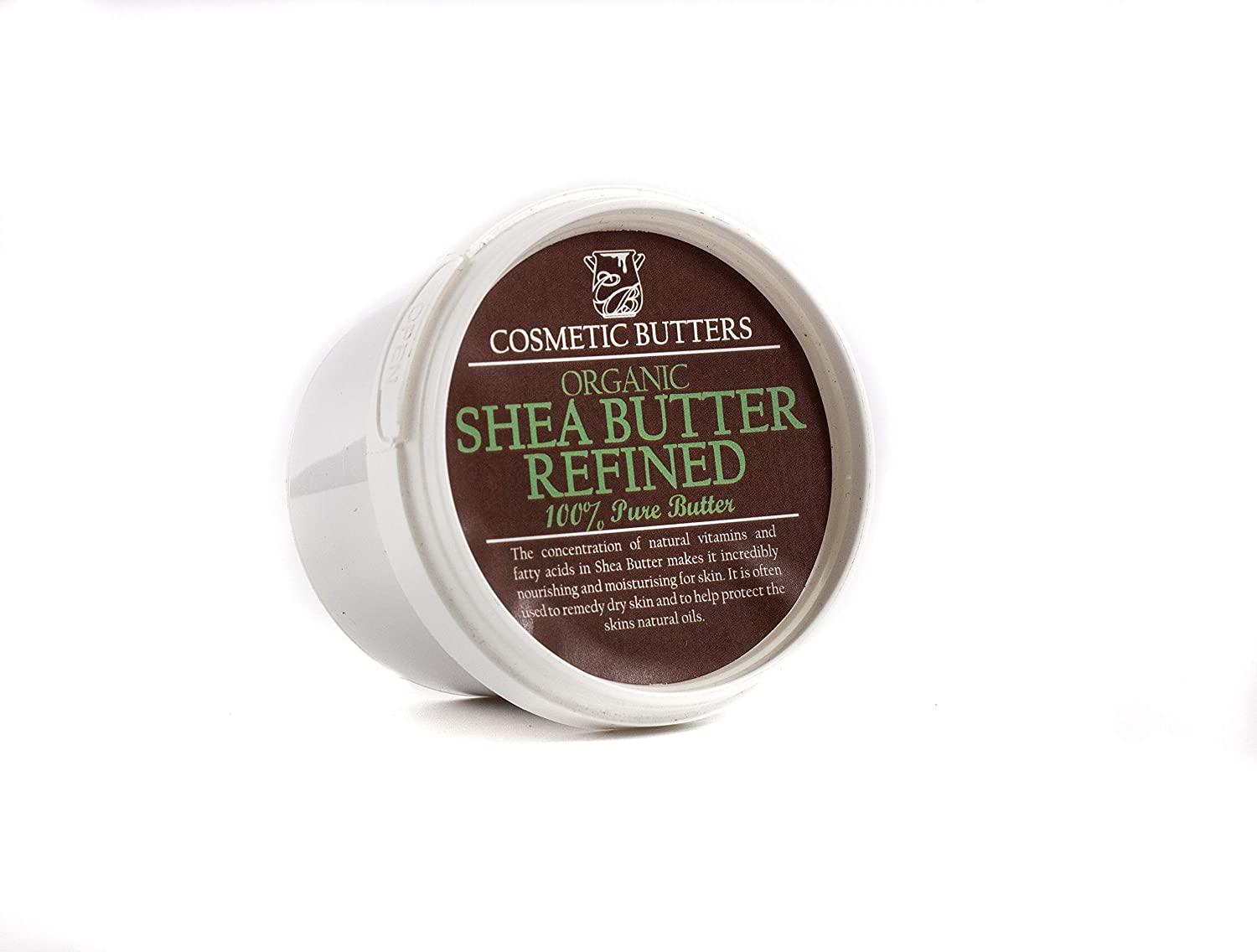 Shea Butter Refined Organic - 100% Pure and Natural - 100g Cosmetic Butters BUTTSHEAREFORG100