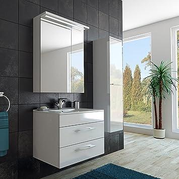 Modernes Badezimmer Möbel Set / mit Waschbecken / Spiegel- und ...