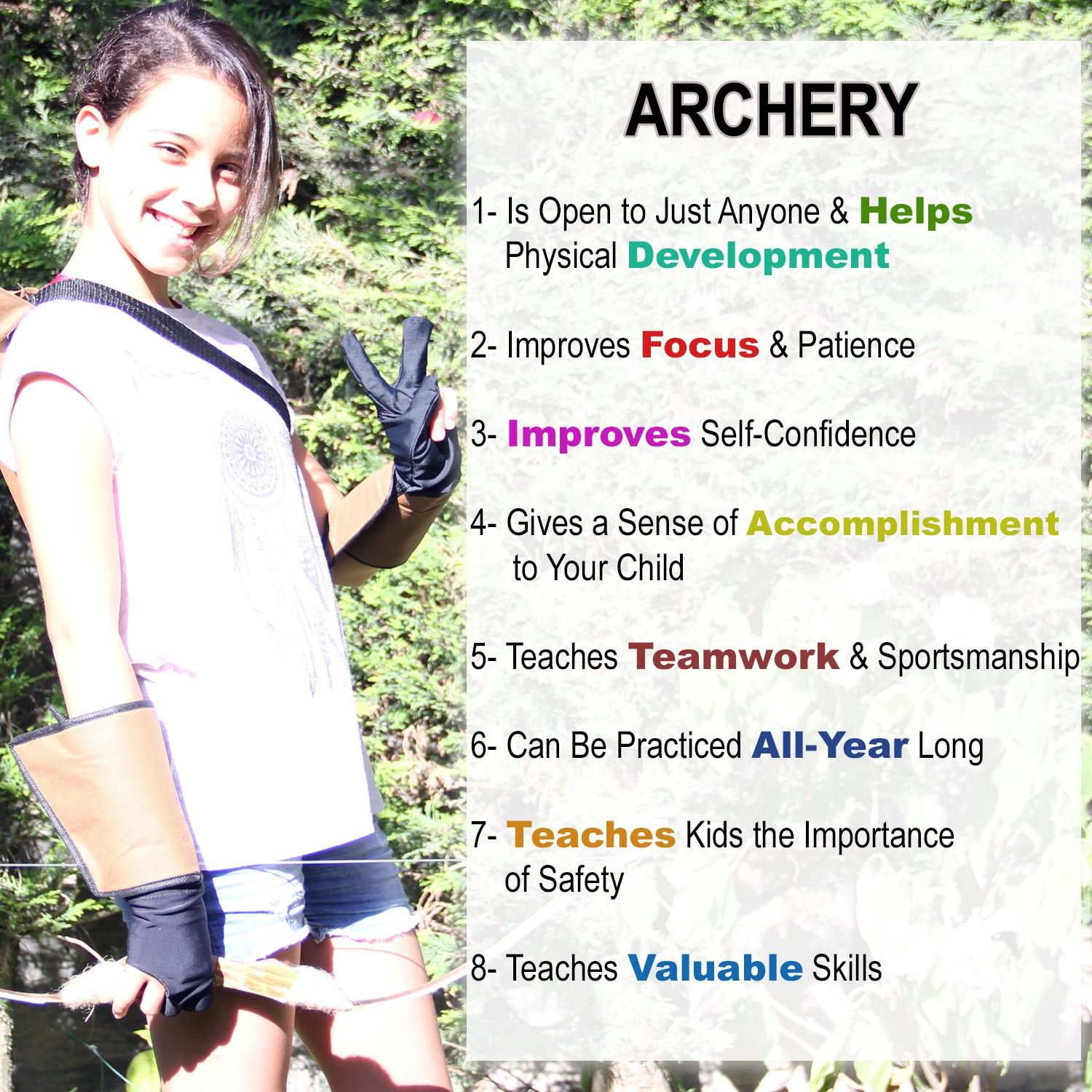 Knidose Beginners Bow Arrow Kids | 36 Pieces Safe Archery Set Outdoor Indoor Fun, Handcrafted Wooden 1 Bow, 15 Arrows, 15 Target Sheets, 1 Quiver, 2 Arm 2 Finger Guards Shooting Toy by Knidose (Image #6)
