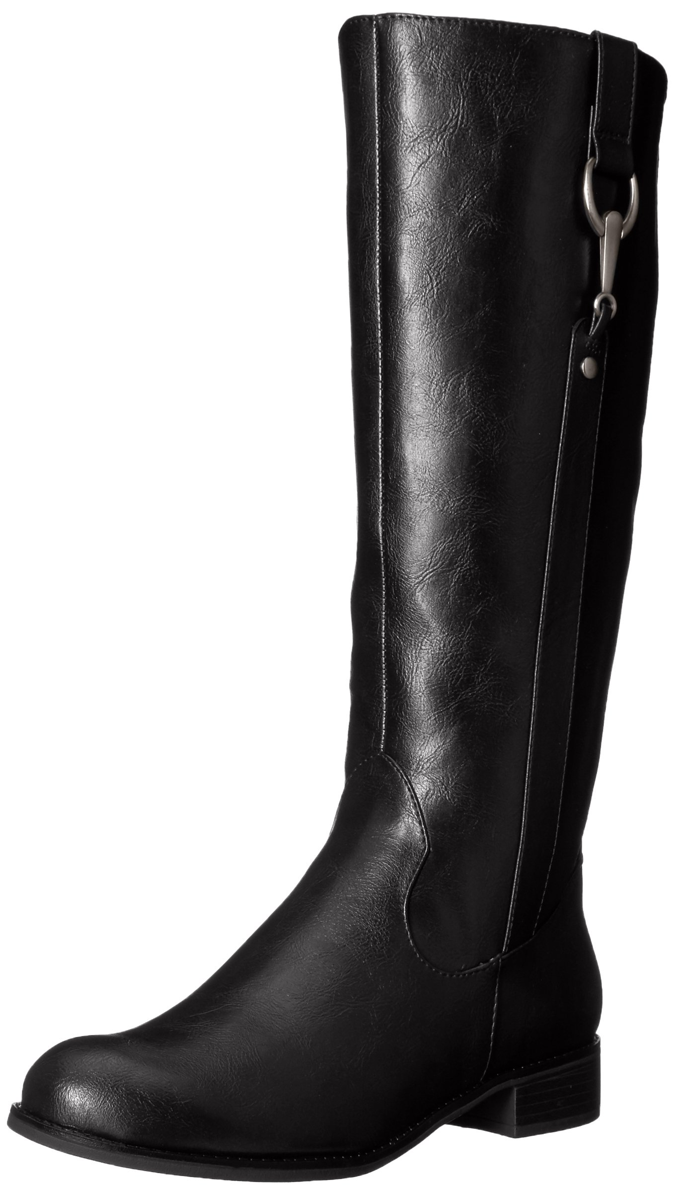 LifeStride Women's Sikora Riding Boot, Black, 7.5 W US