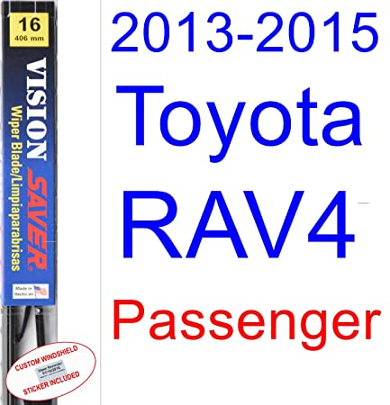 Amazon.com: 2013-2015 Toyota RAV4 Replacement Wiper Blade Set/Kit (Set of 2 Blades) (Saver Automotive Products-Vision Saver) (2014): Automotive