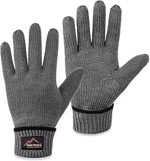 a83adf2bfb6fd8 normani Wollhandschuhe Fingerhandschuhe mit Thinsulate™ Thermofutter und  Fleece Innenmaterial - Strickhandschuhe für Damen und Herren