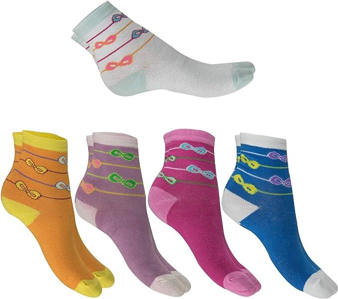 Remixx 10 pares de calcetines para niñas, 100% algodón, talla 20-26. Rot, Lila, Weiß, Blau 23-26: Amazon.es: Ropa y accesorios