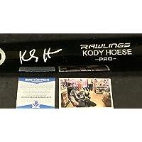 Kody Hoese Los Angeles Dodgers Autographed Signed Black Baseball Bat Beckett Rookie COA photo