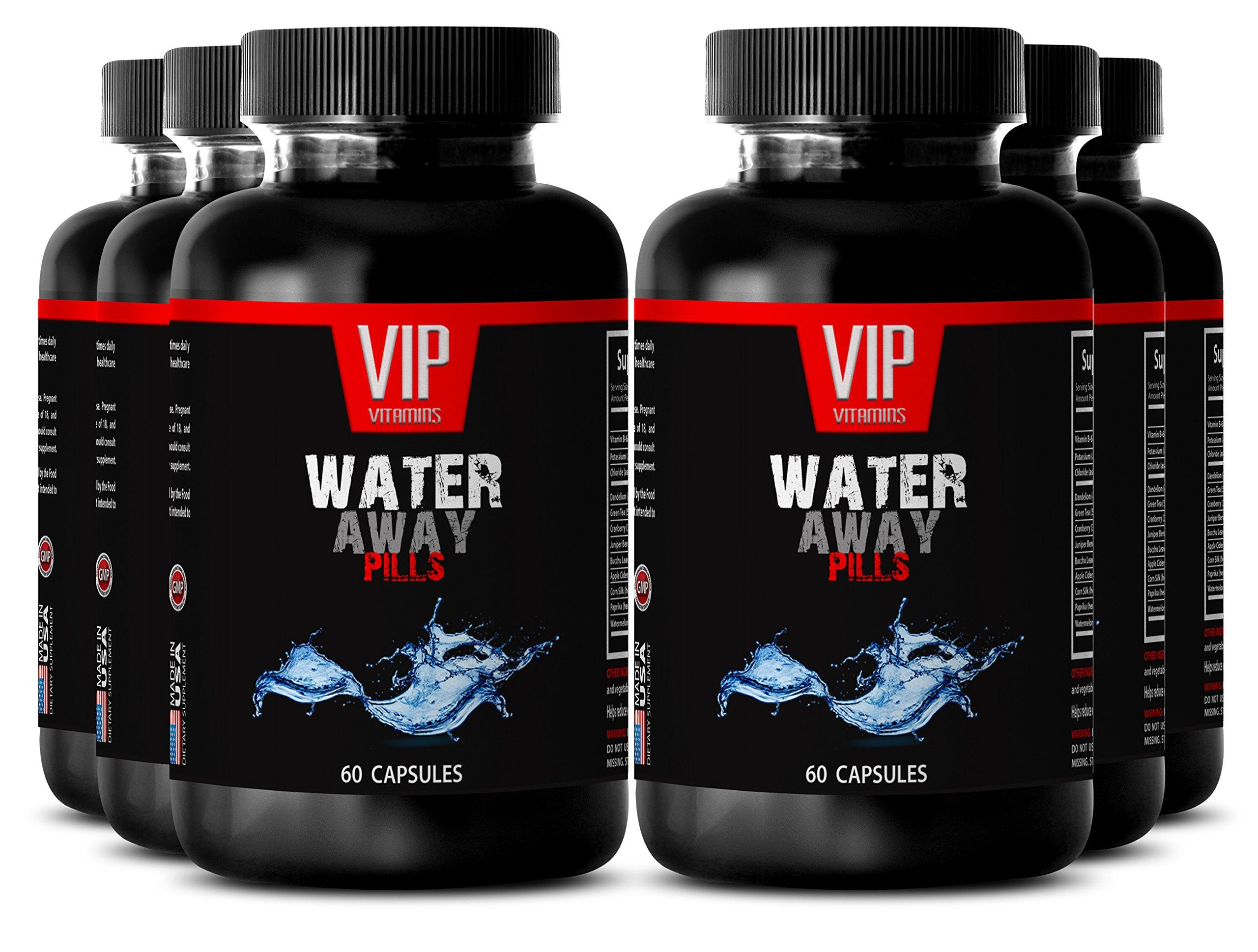 Corn Silk - Water Away Pills - Weight Management Women - 6 Bottles 360 Capsules