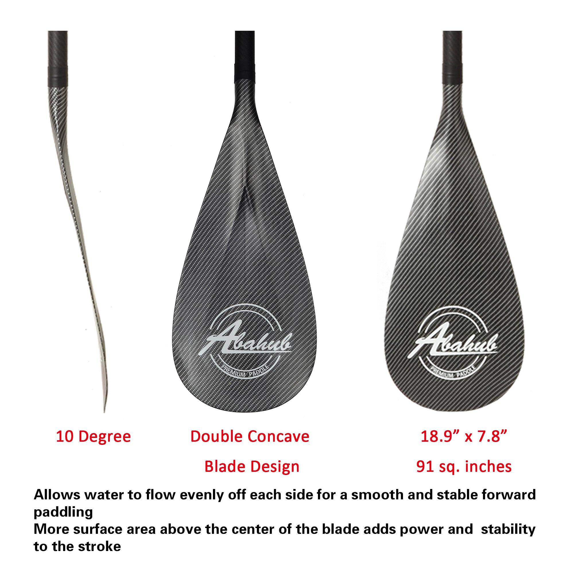 ABAHUB 3-Piece Adjustable Carbon Fiber SUP Paddle Carbon Shaft Carbon Print Plastic Blade + Bag by ABAHUB (Image #6)