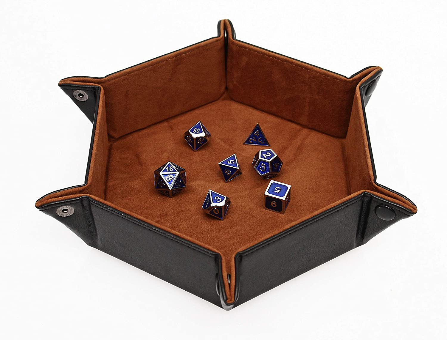 Forged Dice Co Dice Tray Portable Folding Dice Rolling Tray for use as DND Dice Tray D/&D Dice Tray or Dice Game 6.5 Inch Quiets Rolling Metal Dice Stronger Snaps Hold Tighter Than Other Dice Trays