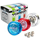 Yomega 3 Legendary Spinners The Original Yoyo with A Brain + Fireball Transaxle YoYo + Spectrum – Light up with LED Lights fo
