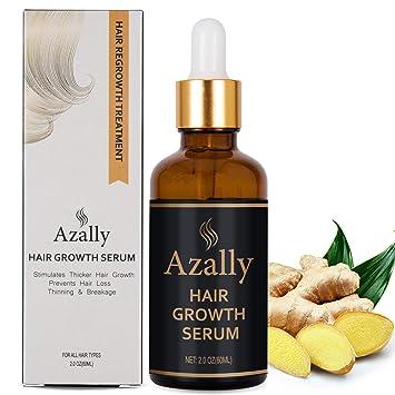 Amazon Com Azally Hair Growth Serum Ginger Hair Growth Oil Best Hair Loss Prevention Treatment 60ml Beauty