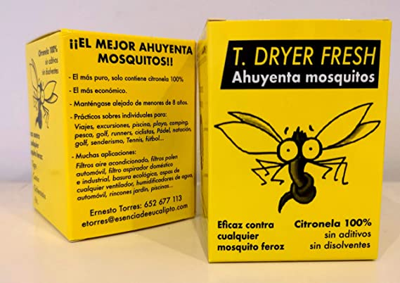 T.Dryer Fresh Citronela 100% Puro Anti Mosquitos ambientador 80 Unidades: Amazon.es: Hogar