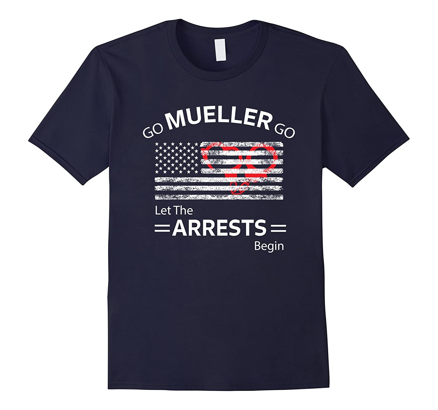 Robert Mueller Anti Trump T Shirt Impeach Flag Handcuffs Anz Anztshirt