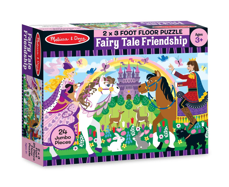 Amazon.com: Melissa U0026 Doug Fairy Tale Friendship Jumbo Jigsaw Floor Puzzle  (24 Pcs, 2 X 3 Feet): Melissa U0026 Doug, Puzzle 24pc : Toys U0026 Games