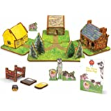 STORYTIME TOYS The Three Little Pigs 3D Puzzle - Book and Toy Set - 3 in 1 - Book, Build, and Play