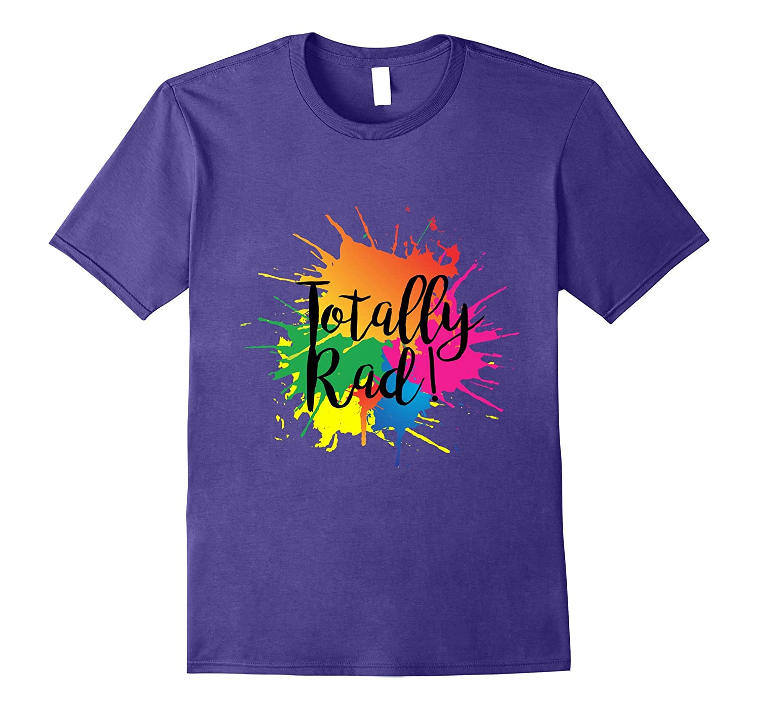 Totally Rad 80s Neon Paint Splash T-shirt-PL