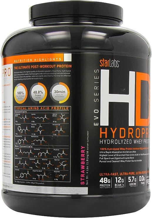 Starlabs nutrition hd8, 100% proteína hidrolizada - 1800g