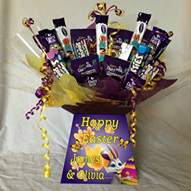 91963ac24220a Kids Easter Mix Sweet Chocolate Bouquet With Personalised Bouquet Box   Amazon.co.uk  Grocery