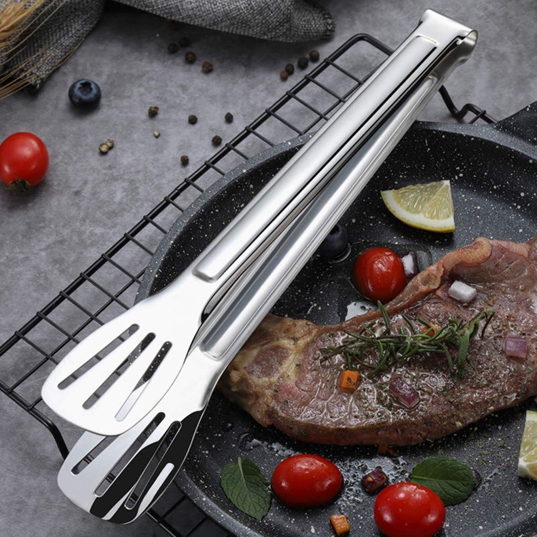 Cuisson en Acier Inoxydable et Rev/êtement en Plastique Poign/ée Pince Pince Barbecue en Acier Inoxydable Digead Pince /à Barbecue Tongs de Cuisine