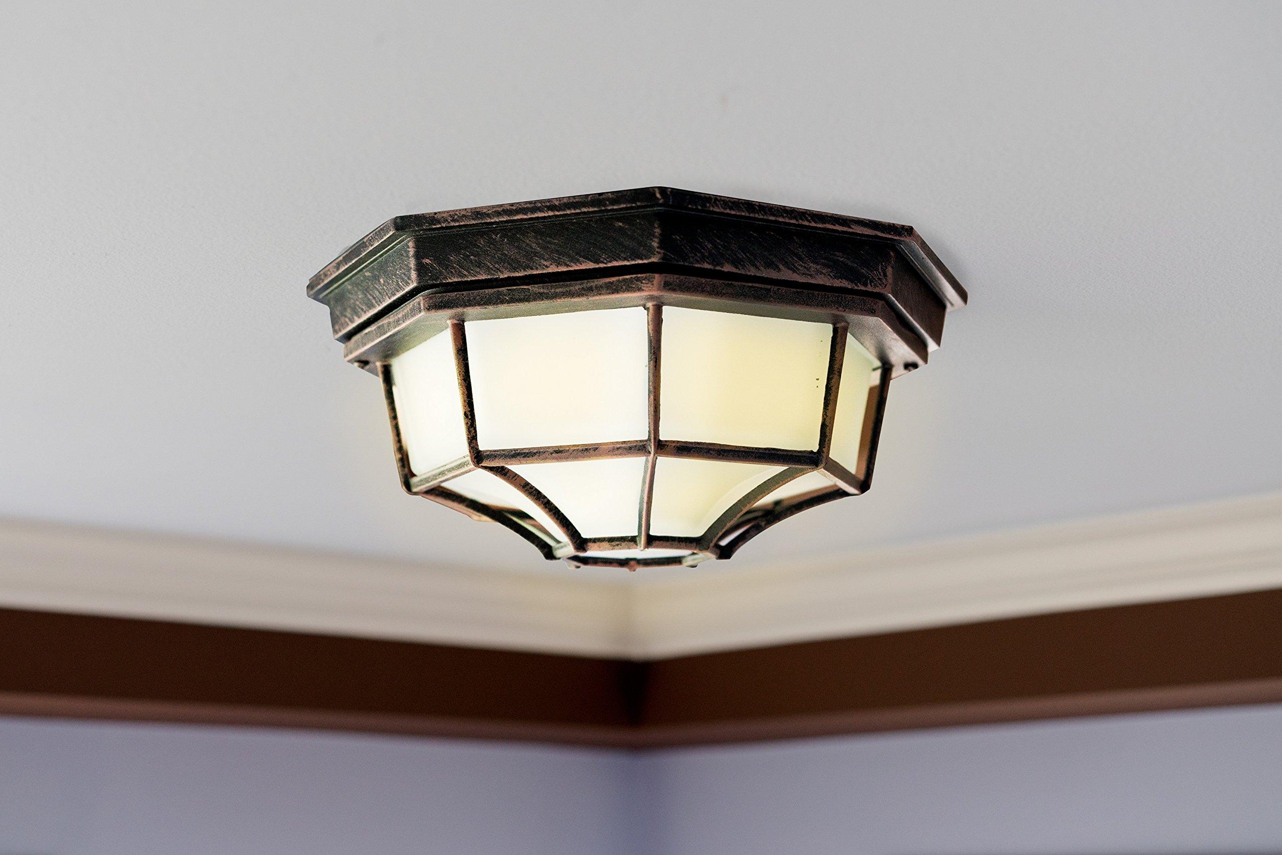 Trans Globe Lighting 40582 RT Outdoor Benkert 5'' Flushmount Lantern, Rust by Trans Globe Lighting (Image #5)