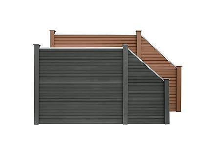 Home Deluxe Wpc Sichtschutzzaun V2 Inkl Pfostentragern