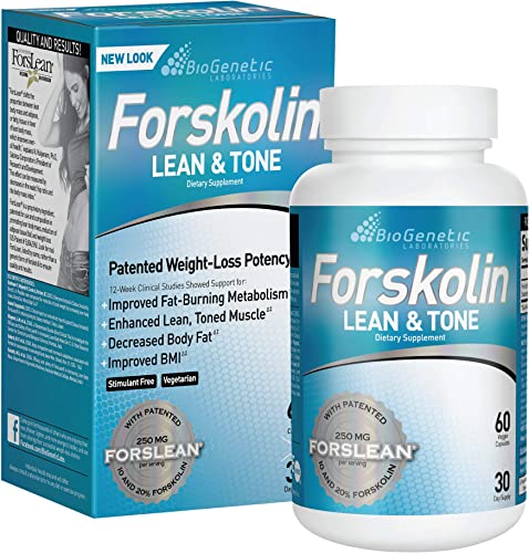 BioGenetic Labs Forskolin Lean Tone – Weight Loss Pills – Body Toning Formula Fat Burner and Maintenance of Muscle Mass For Men and Women Appetite Suppressant – 60 Capsules – Vegetarian