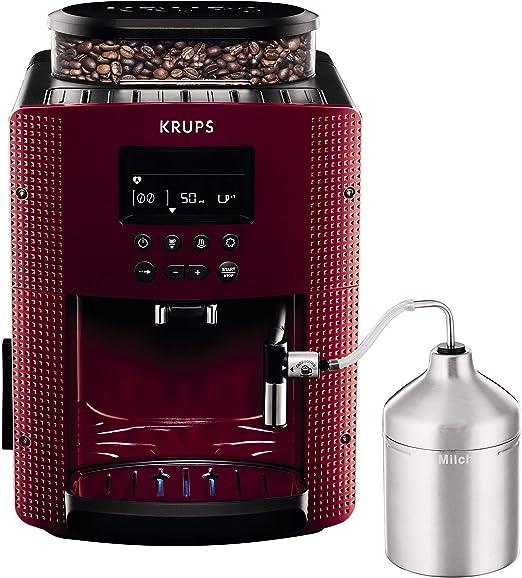 Krups Pisa EA816570 - Cafetera automática de 15 bares, pantalla LCD, 3 niveles intensidad, de 20 ml a 220 ml ...
