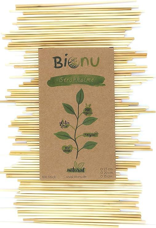 Bionu Pajitas de Paja, sostenibles, biodegradables y respetuosas ...
