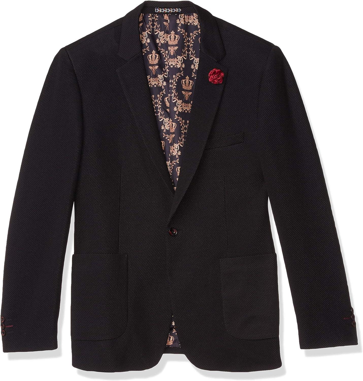 Outlet sale feature Azaro Uomo Men's Knit Now free shipping Casual Blazer Na Black Jacket Maroon White