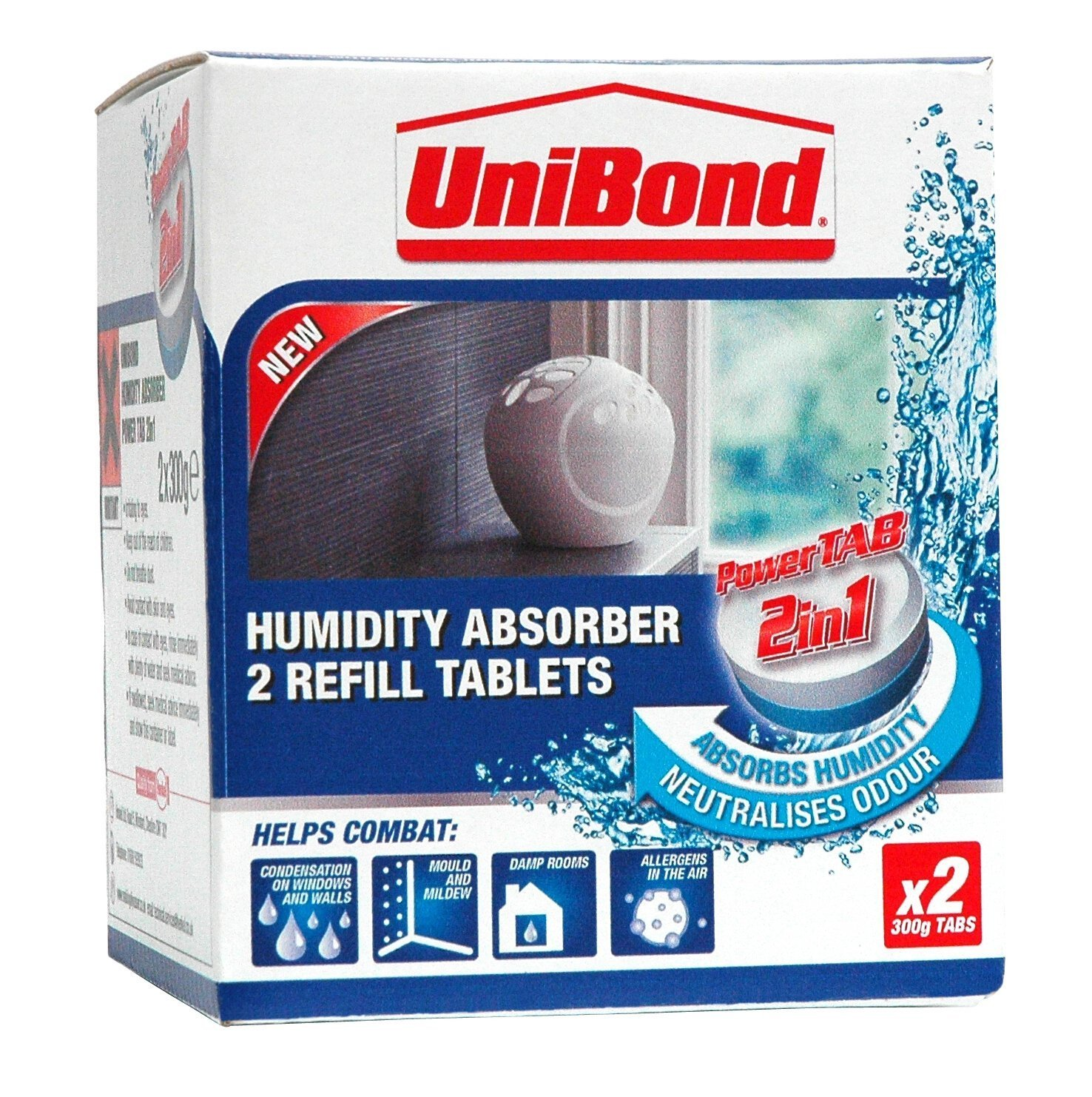 2X UniBond 1554712 Humidity Absorber Refills, Small