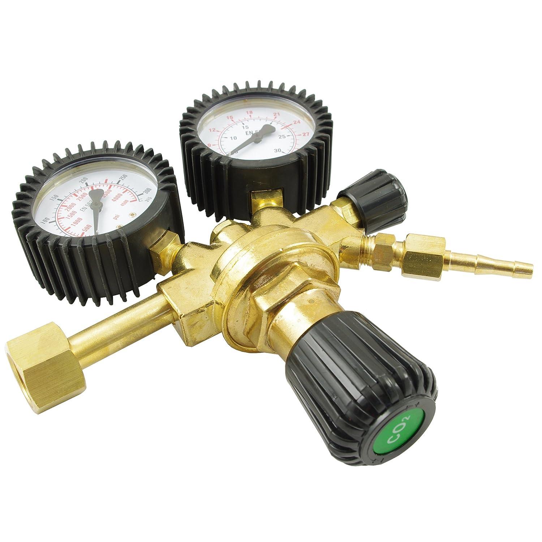 Reductor de presión IPOTOOLS Regulador de presión para equipos de soldadura de argón/CO2 gas inerte a MIG/MAG: Amazon.es: Jardín