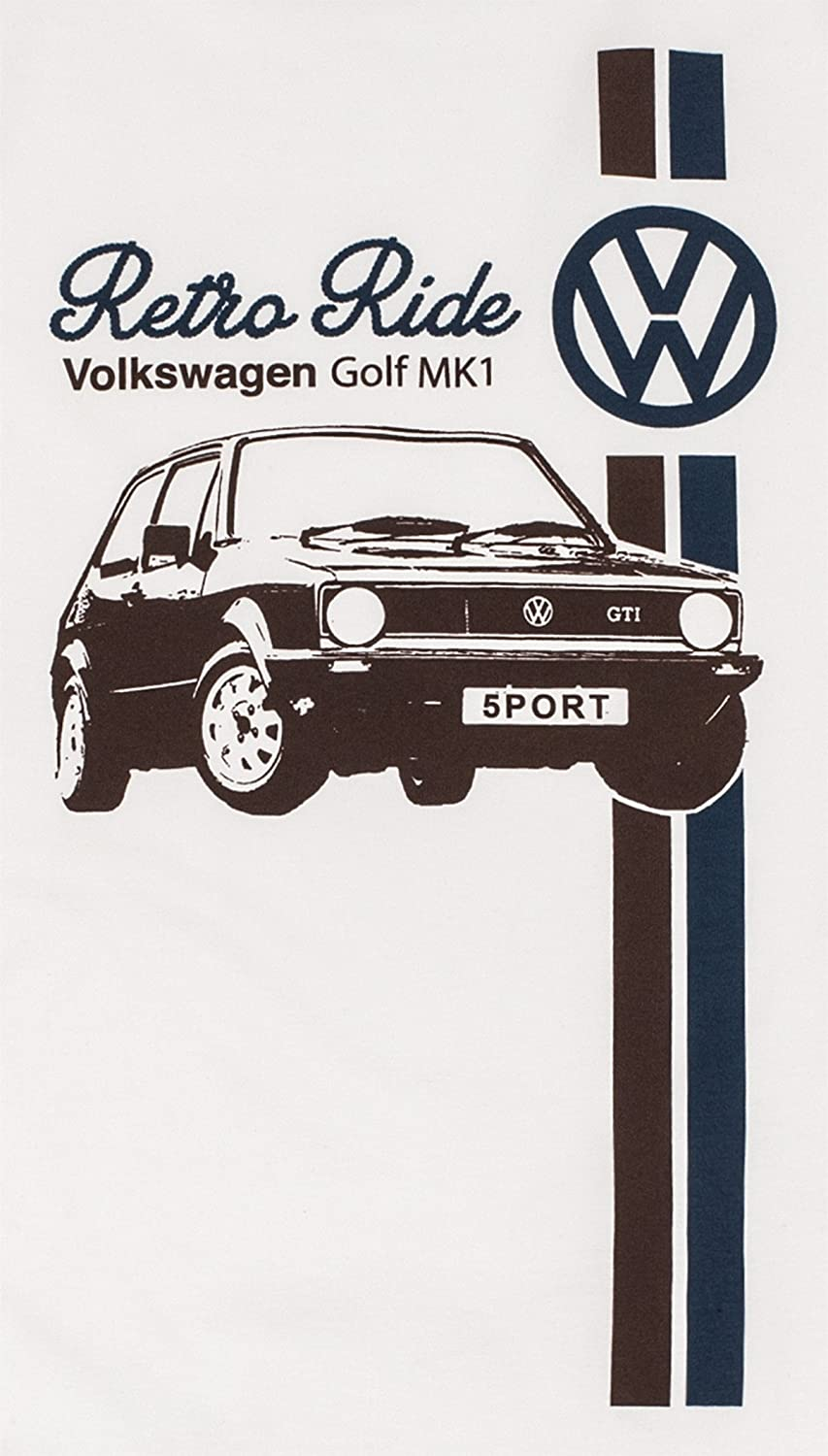 Mens 'Retro Ride' VW Golf Mk1 GTI T-Shirt Volkswagen 'Official Licensed'  Product - Small - White: Amazon.co.uk: Clothing