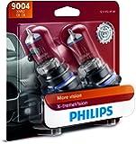 Philips 9004XVB2 X-tremeVision Upgrade Headlight Bulb, 2 Pack