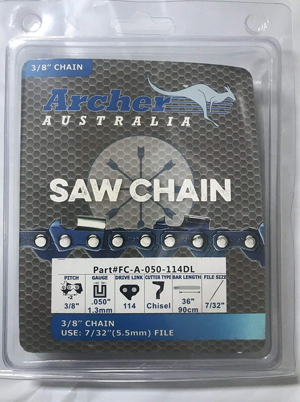 OREGON 72LGX114G 114 Drive Link Super Guard Chisel Chain 3//8-Inch