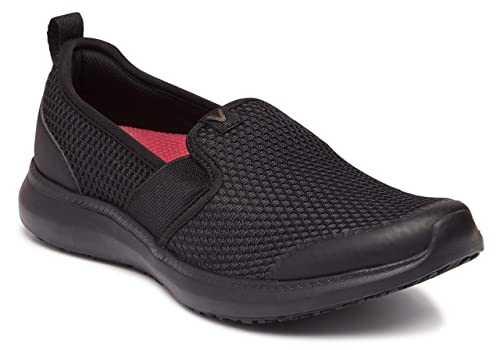 e77e9e6122a8e Vionic Women's Simmons Julianna Service Shoes- Ladies Slip Resistant Shoe  with Concealed Orthotic Arch Support