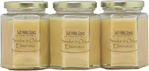 3 Pack - Smoke & Odor Eliminator Blended Soy Candle | Neutralizes Cigarette, Food and Pet Odors | Hand Poured in The USA by Just Makes Scents